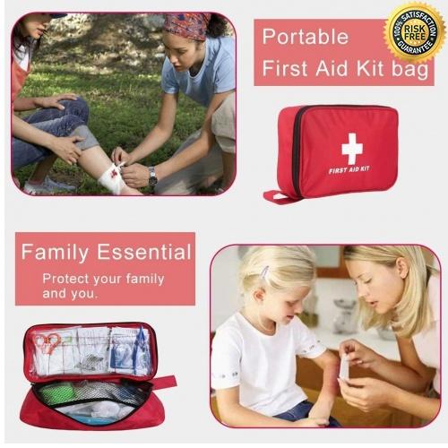 miniatura 5 - Kit di Primo Soccorso 180 Pezzi, Kit di Pronto Soccorso Compatto Professionale,