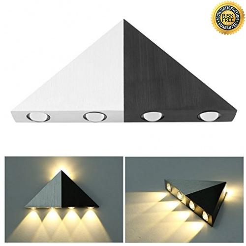 Chaud Lampe Louvra Applique Triangle blanc Murale Led 5w Interieur Orig Design cRAjq354L