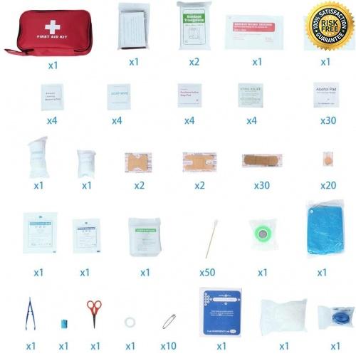 miniatura 2 - Kit di Primo Soccorso 180 Pezzi, Kit di Pronto Soccorso Compatto Professionale,